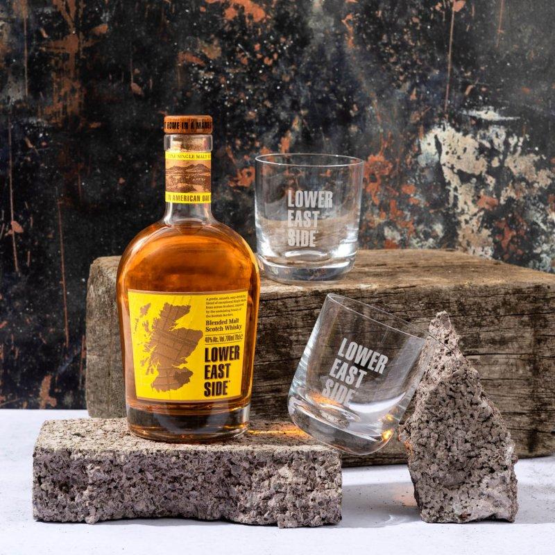 Lower East Side whisky + 2 Rocks Tumblers