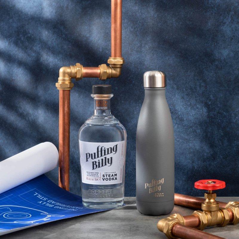 Puffing Billy Steam Vodka + branded cooler bottle