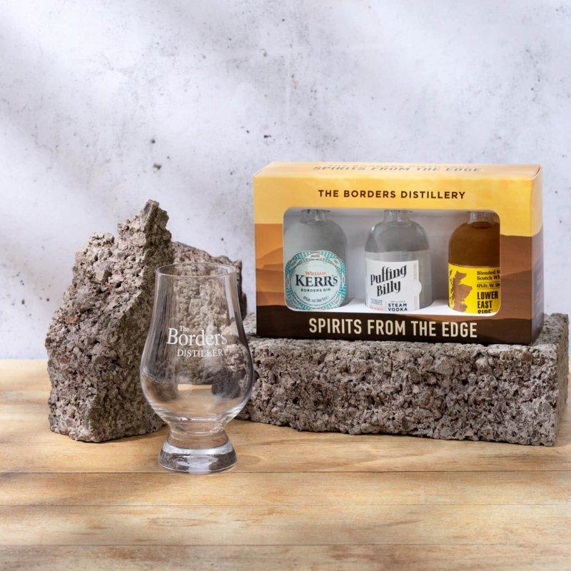 Borders Distillery spirits tasting set